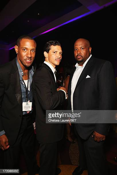 Recording artist El DeBarge and guest attend the Post Reception during the 2013 BET Awards at JW Marriot at LA Live on June 30 2013 in Los Angeles...