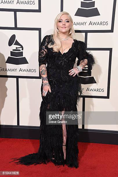 Recording artist Elle King attends The 58th GRAMMY Awards at Staples Center on February 15 2016 in Los Angeles California