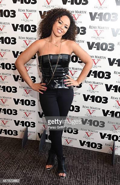 Recording artist Elle Varner attends the V103 Acoustic Sunday Featuring Elle Varner at The W Hotel Midtown on October 19 2014 in Atlanta Georgia