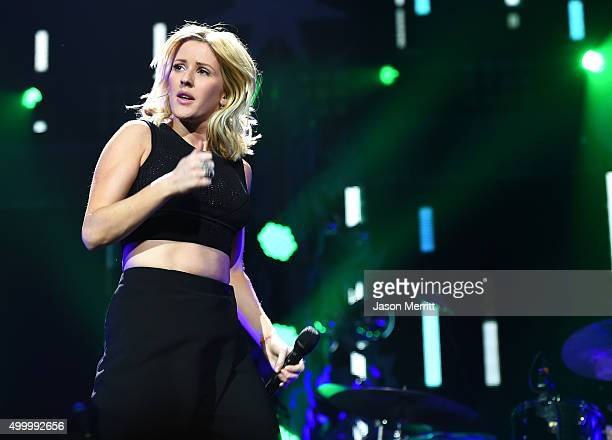 Recording artist Ellie Goulding performs onstage during 1027 KIIS FM's Jingle Ball 2015 Presented by Capital One at STAPLES CENTER on December 4 2015...
