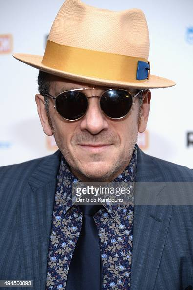 Recording artist Elvis Costello attends the ''Supermensch The Legend Of Shep Gordon' screening at The Museum of Modern Art on May 29 2014 in New York...
