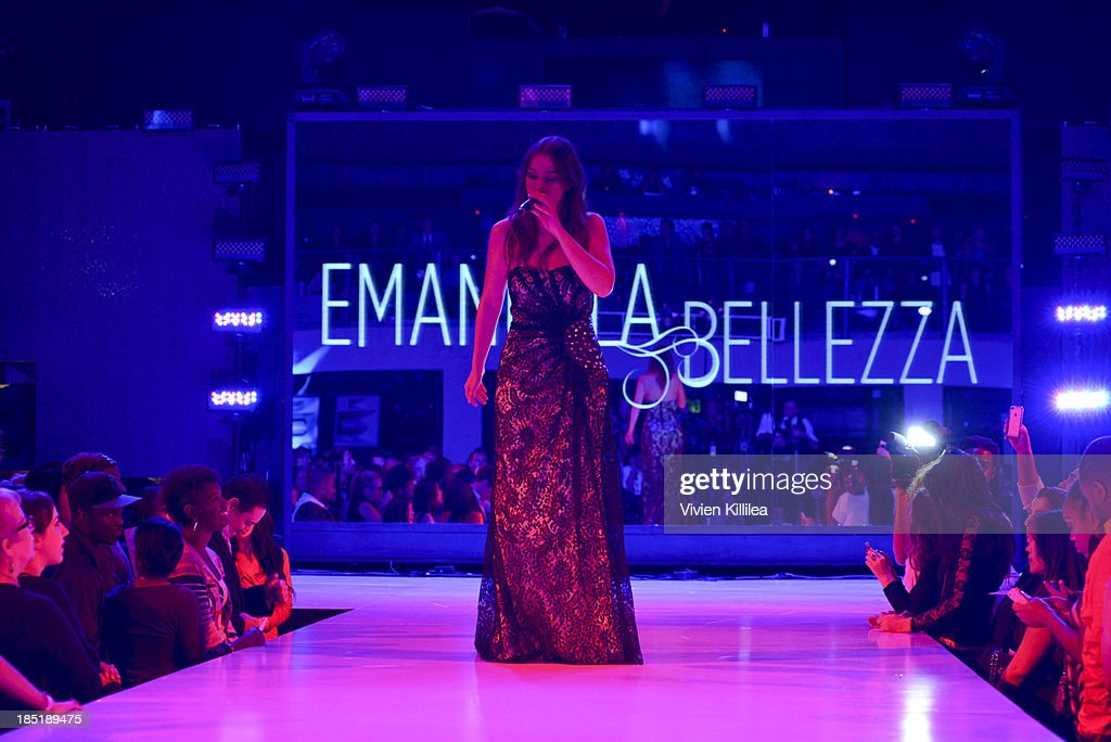 Recording artist Emanuela Bellezza performs at Fashion Minga - Art.Music.Dance. at Exchange LA on October 17, 2013 in Los Angeles, California.