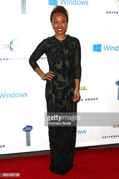 Recording artist Emeli Sande attends the Universal Music Group 2014 post GRAMMY party held at The Ace Hotel Theater on January 26 2014 in Los Angeles...