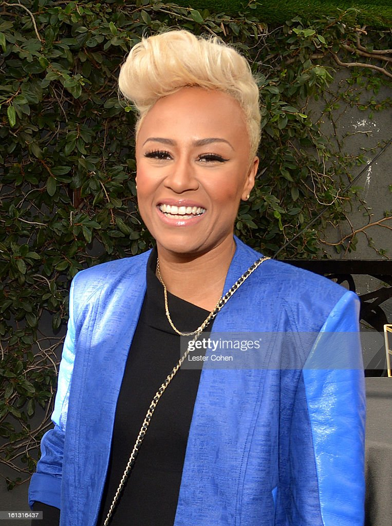 Recording artist Emeli Sande attends Universal Music Group Showcase '13 Backstage at Lure on February 9, 2013 in Hollywood, California.