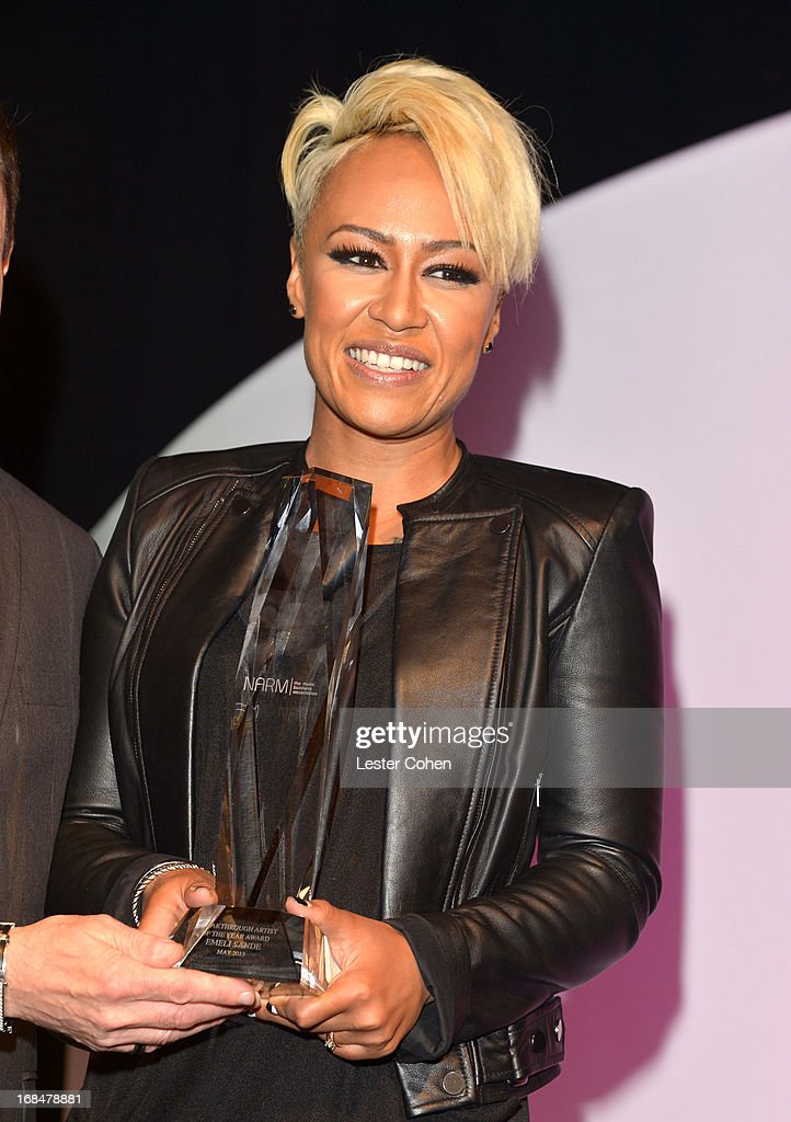 Recording artist Emeli Sande speaks onstage during 2013 Music Biz Awards presented by NARM and Musicbiz.org at the Hyatt Regency Century Plaza on May 9, 2013 in Los Angeles, California.