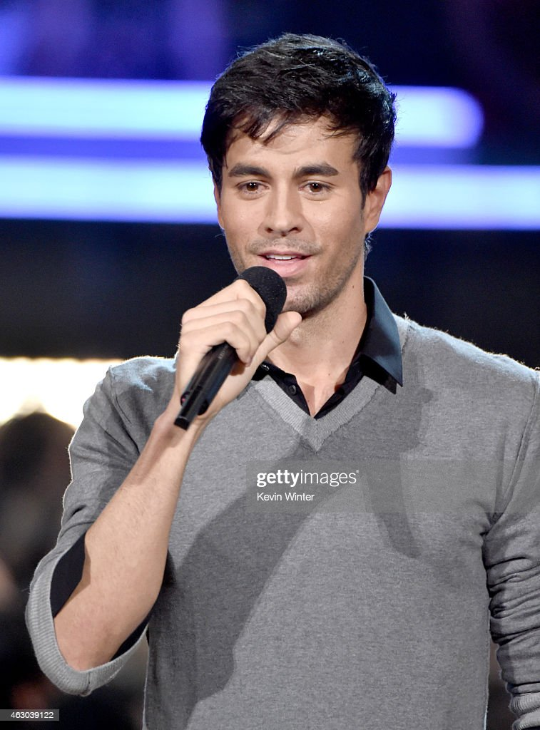 Recording artist Enrique Iglesias speaks onstage during The 57th ...