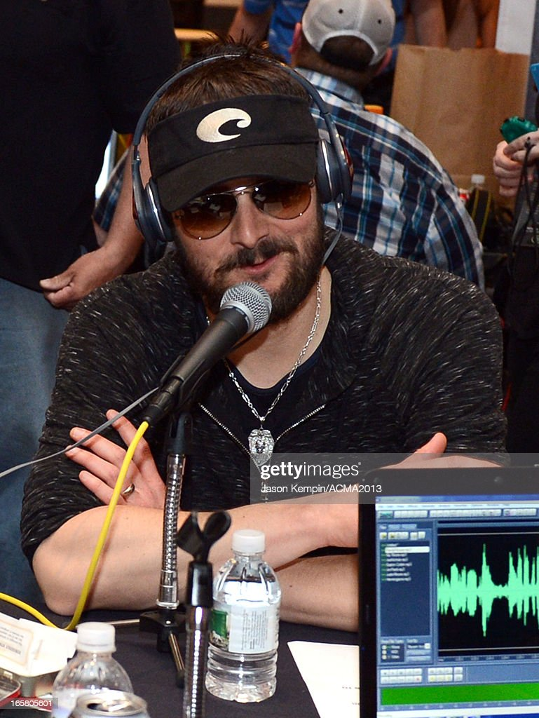 Recording artist <a gi-track='captionPersonalityLinkClicked' href=/galleries/search?phrase=Eric+Church&family=editorial&specificpeople=619568 ng-click='$event.stopPropagation()'>Eric Church</a> attends the Dial Global Radio Remotes during The 48th Annual Academy of Country Music Awards at the MGM Grand on April 5, 2013 in Las Vegas, Nevada.