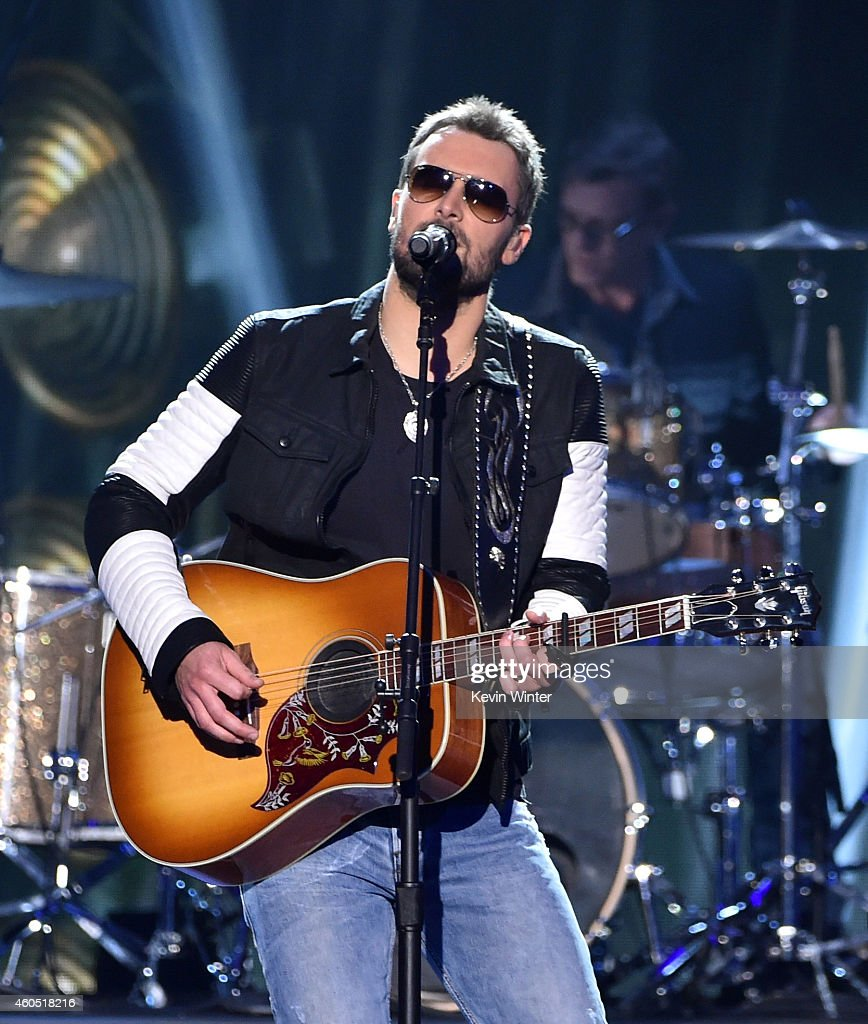 Recording artist Eric Church performs onstage during the 2014 American Country Countdown Awards at Music City Center on December 15 2014 in Nashville...