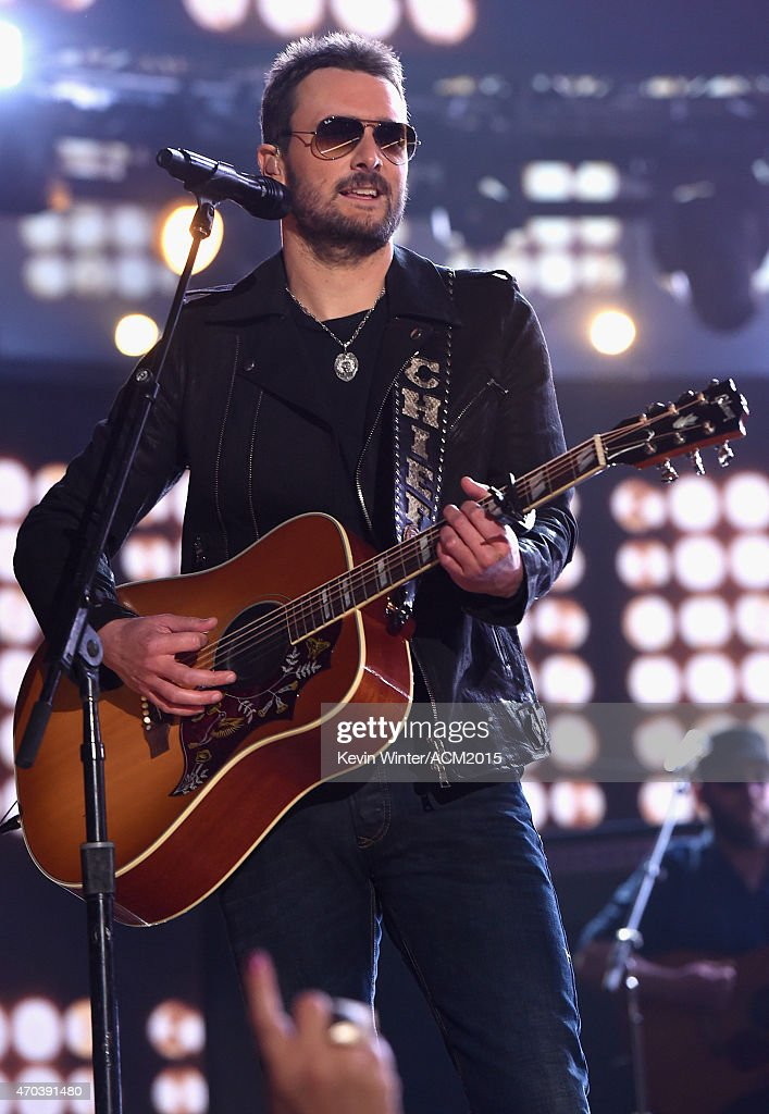Recording artist Eric Church performs onstage during the 50th Academy of Country Music Awards at ATT Stadium on April 19 2015 in Arlington Texas