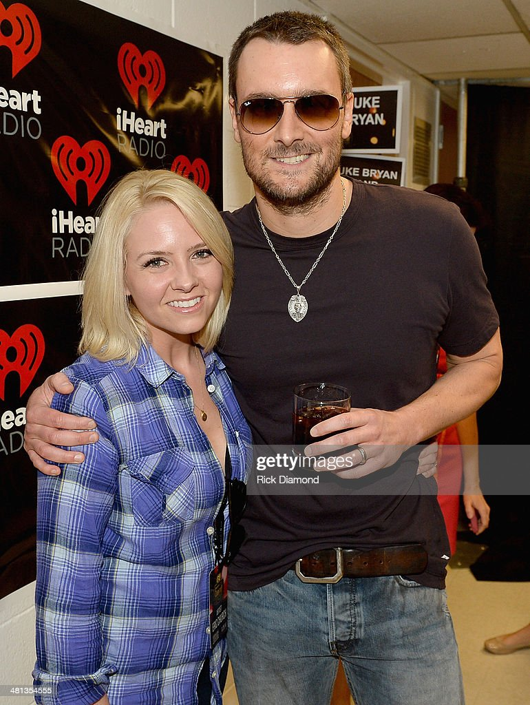 Recording artist Eric Church poses with Katherine Church backstage at iHeartRadio Country Festival in Austin at the Frank Erwin Center on March 29...