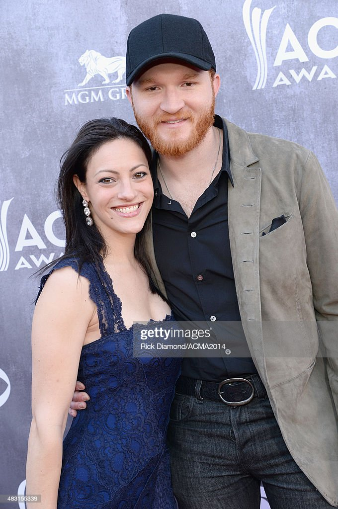 Recording artist Eric Paslay and guest attend the 49th Annual Academy of Country Music Awards at the MGM Grand Garden Arena on April 6 2014 in Las...