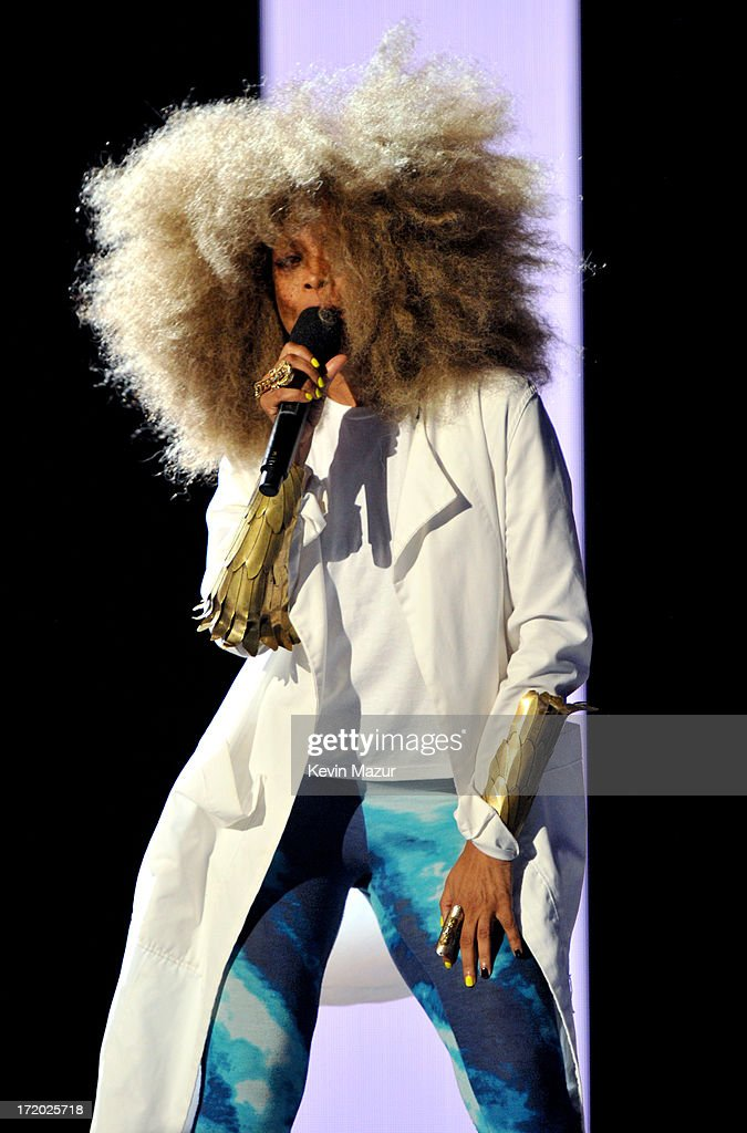 Recording artist Erykah Badu onstage during the 2013 BET Awards at Nokia Theatre LA Live on June 30 2013 in Los Angeles California