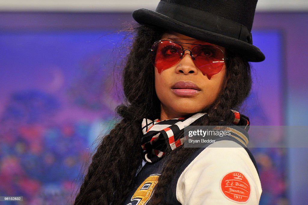 Recording artist Erykah Badu visits BET's '106 Park' at BET Studios on March 29 2010 in New York City