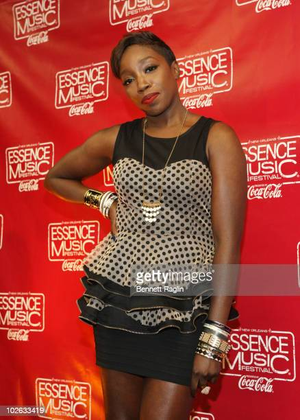 Recording artist Estelle attends the 2010 Essence Music Festival at the Louisiana Superdome on July 4 2010 in New Orleans Louisiana