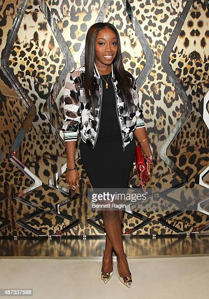 Recording artist Estelle attends the Just Cavalli Kick Off New York Fashion Week At The Just Cavalli Soho Boutiqueon September 8 2015 in New York City