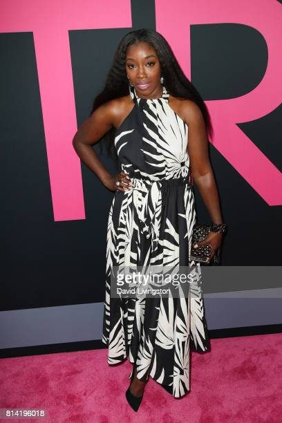 Recording artist Estelle attends the premiere of Universal Pictures' 'Girls Trip' at Regal LA Live Stadium 14 on July 13 2017 in Los Angeles...