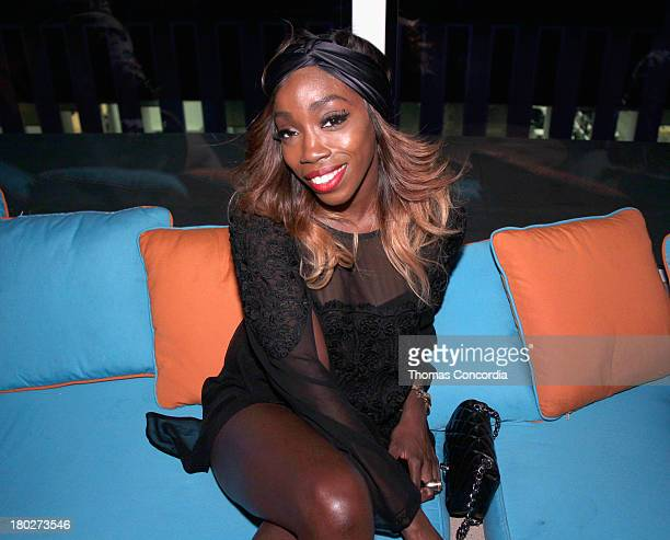 Recording artist Estelle attends the STYLE360 Afterparty Celebrating Junk Food Curated by Kristin Cavallari at Haven Rooftop at The Sanctuary Hotel...