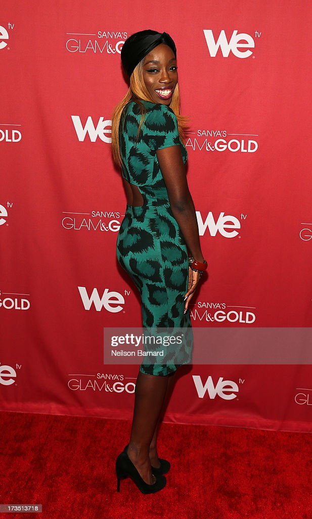 Recording artist <a gi-track='captionPersonalityLinkClicked' href=/galleries/search?phrase=Estelle&family=editorial&specificpeople=206205 ng-click='$event.stopPropagation()'>Estelle</a> attends the WE tv screening for 'Sanya's Glam & Gold' at The Gansevoort Park Ave on July 15, 2013 in New York City. Series premieres Thursday, July 25th at 10pm ET on WE tv.