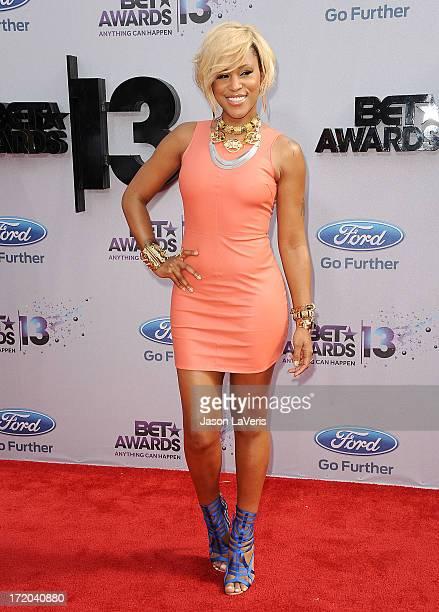 Recording artist Eve attends the 2013 BET Awards at Nokia Theatre LA Live on June 30 2013 in Los Angeles California