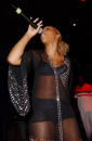 Recording artist Eve preforms at her release party for her new CD 'Eveolution' at Club Snatch September 9 2002 in Hollywood California