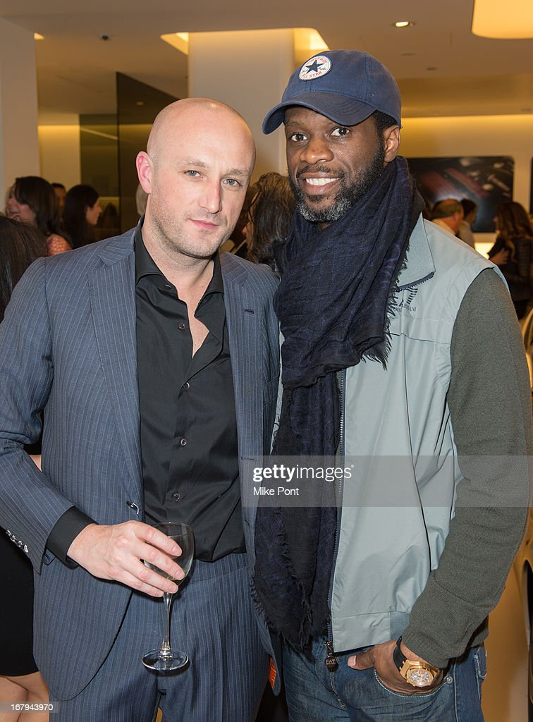 Recording Artist Fabrizio Sotti and Hip Hop Artist <a gi-track='captionPersonalityLinkClicked' href=/galleries/search?phrase=Pras&family=editorial&specificpeople=960690 ng-click='$event.stopPropagation()'>Pras</a> attend Fabrizio Sotti's 'Right Now' Album Listening Party at the Ferrari Corporate Showroom Of New York on May 2, 2013 in New York City.
