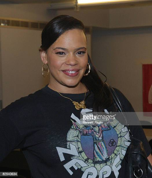 Recording artist Faith Evans attends the CocaCola celebration of the Essence Music Festival on June 5 2008 at Apollo Theater in New York