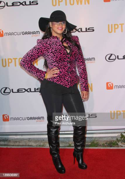 Recording artist Faith Evans attends the Uptown Media Group's 'Black Hollywood' Oscar week event Celebrating the 20th Anniversary Of 'Boomerang' at...