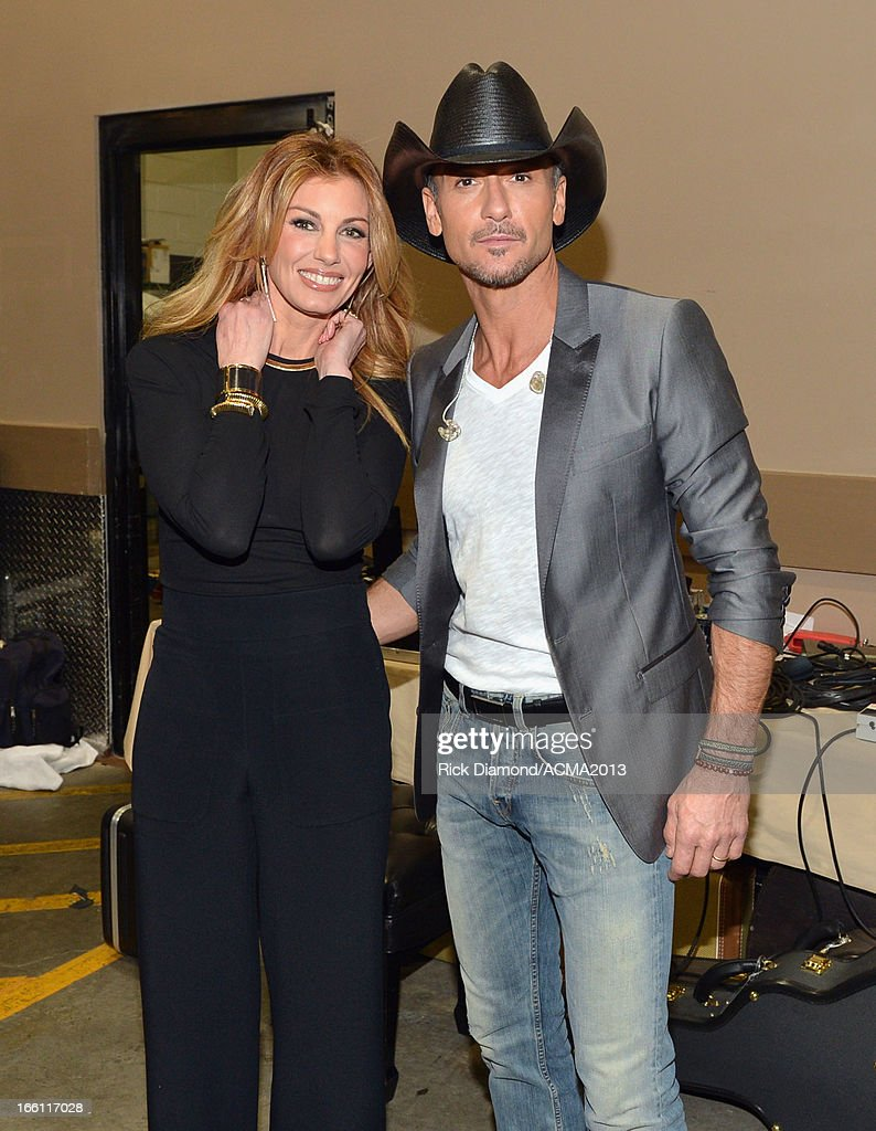 Recording Artist <a gi-track='captionPersonalityLinkClicked' href=/galleries/search?phrase=Faith+Hill&family=editorial&specificpeople=175933 ng-click='$event.stopPropagation()'>Faith Hill</a> and host <a gi-track='captionPersonalityLinkClicked' href=/galleries/search?phrase=Tim+McGraw&family=editorial&specificpeople=202845 ng-click='$event.stopPropagation()'>Tim McGraw</a> attend <a gi-track='captionPersonalityLinkClicked' href=/galleries/search?phrase=Tim+McGraw&family=editorial&specificpeople=202845 ng-click='$event.stopPropagation()'>Tim McGraw</a>'s Superstar Summer Night presented by the Academy of Country Music at the MGM Grand Garden Arena on April 8, 2013 in Las Vegas, Nevada.