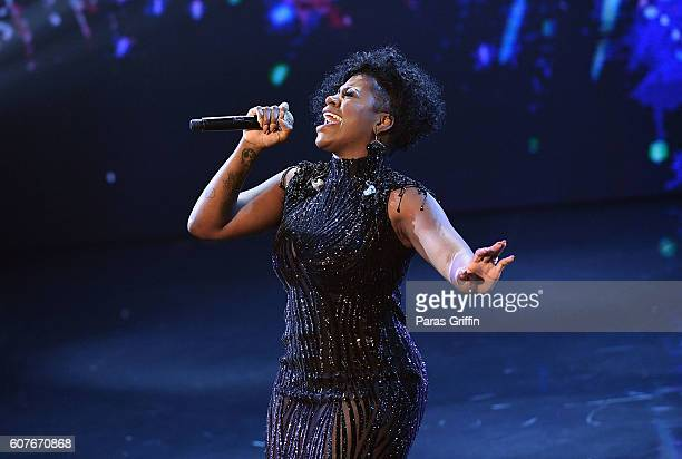 Recording artist Fantaisa performs on stage at 2016 Triumph Awards presented by National Action Network and TV One at The Tabernacle on September 18...