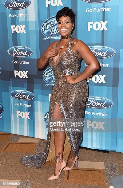 Recording artist Fantasia attends FOX's 'American Idol' Finale For The Farewell Season at Dolby Theatre on April 7 2016 in Hollywood California