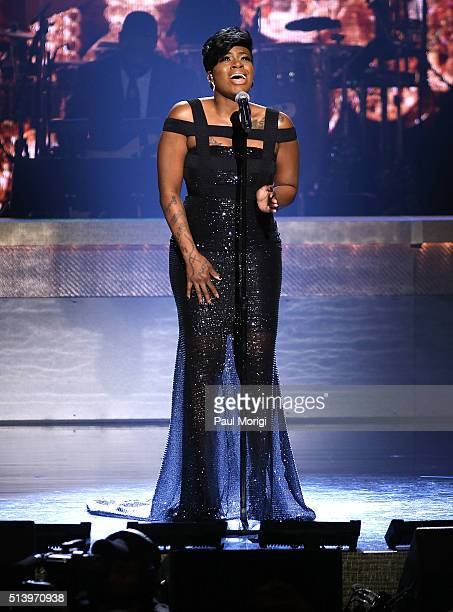 Recording artist Fantasia Barrino performs on stage during the BET Honors 2016 Show at Warner Theatre on March 5 2016 in Washington DC