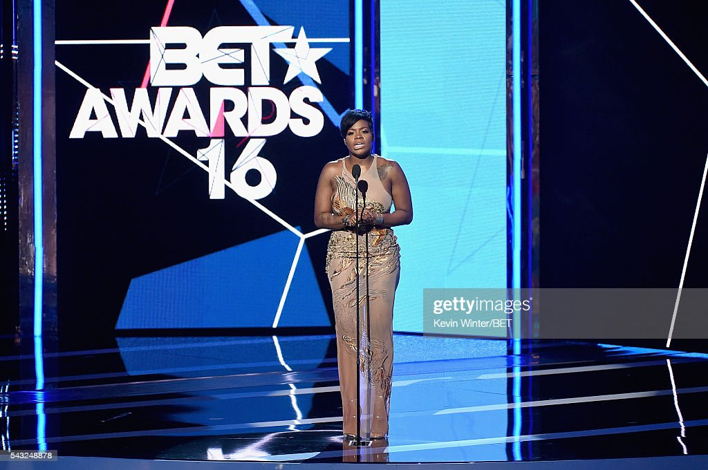 Recording artist <a gi-track='captionPersonalityLinkClicked' href=/galleries/search?phrase=Fantasia+Barrino&family=editorial&specificpeople=171386 ng-click='$event.stopPropagation()'>Fantasia Barrino</a> speaks onstage during the 2016 BET Awards at the Microsoft Theater on June 26, 2016 in Los Angeles, California.