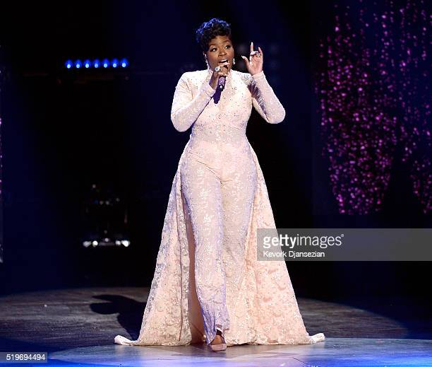 Recording artist Fantasia performs onstage during FOX's 'American Idol' Finale For The Farewell Season at Dolby Theatre on April 7 2016 in Hollywood...