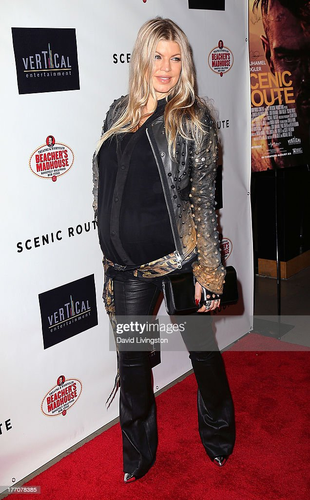 Recording artist Fergie Duhamel attends the premiere of Vertical Entertainment's 'Scenic Route' at the Chinese 6 Theaters Hollywood on August 20, 2013 in Hollywood, California.