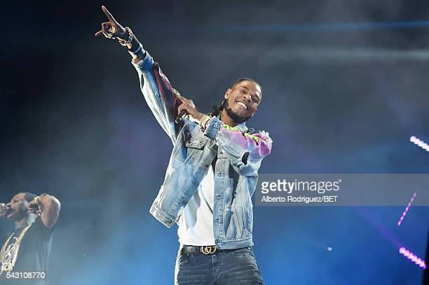 Recording artist Fetty Wap performs onstage during the 2016 BET Experience at Staples Center on June 25 2016 in Los Angeles California