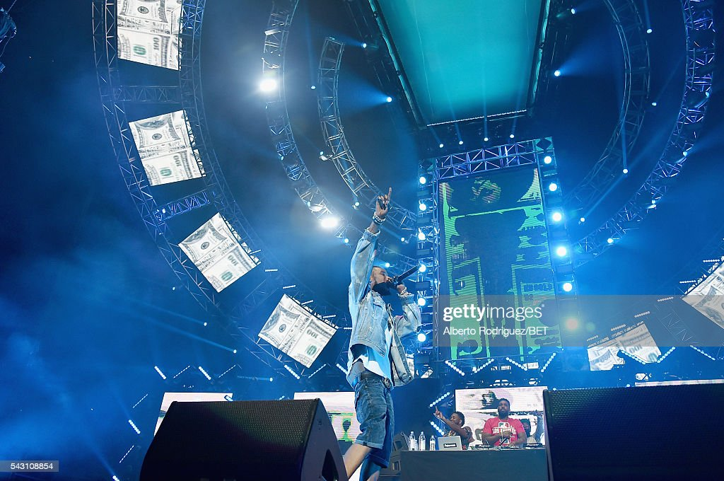 Recording artist Fetty Wap performs onstage during the 2016 BET Experience at Staples Center on June 25, 2016 in Los Angeles, California.