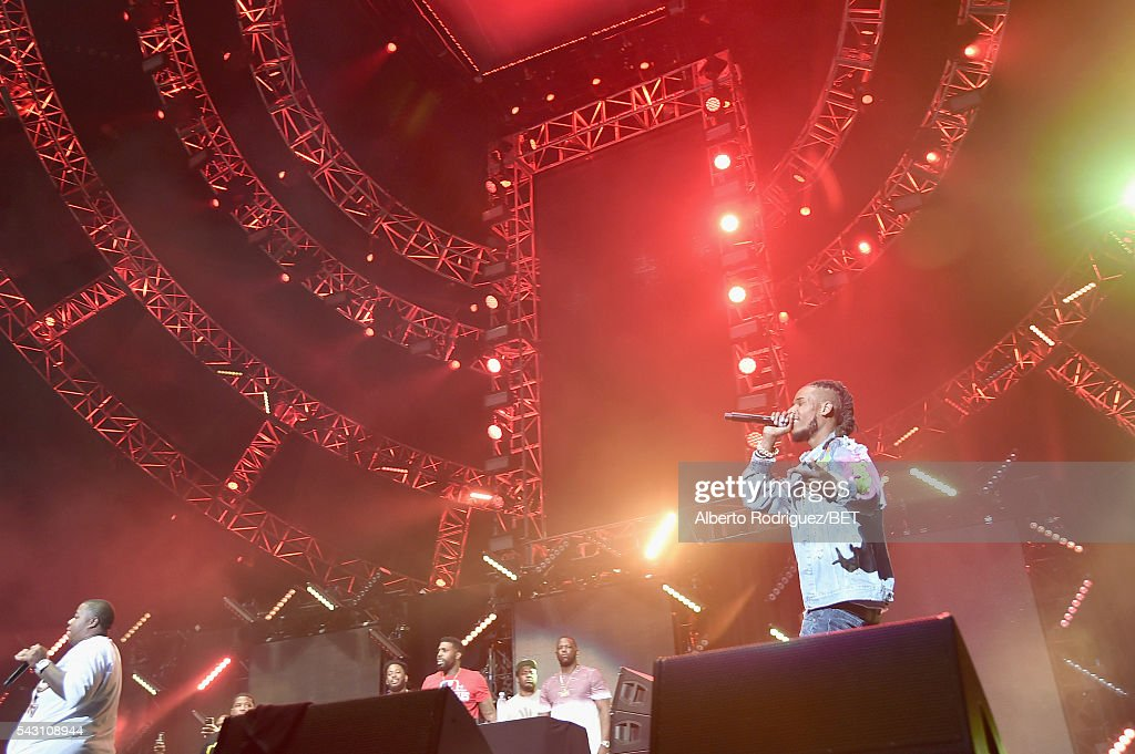 Recording artist <a gi-track='captionPersonalityLinkClicked' href=/galleries/search?phrase=Fetty+Wap&family=editorial&specificpeople=13928234 ng-click='$event.stopPropagation()'>Fetty Wap</a> performs onstage during the 2016 BET Experience at Staples Center on June 25, 2016 in Los Angeles, California.