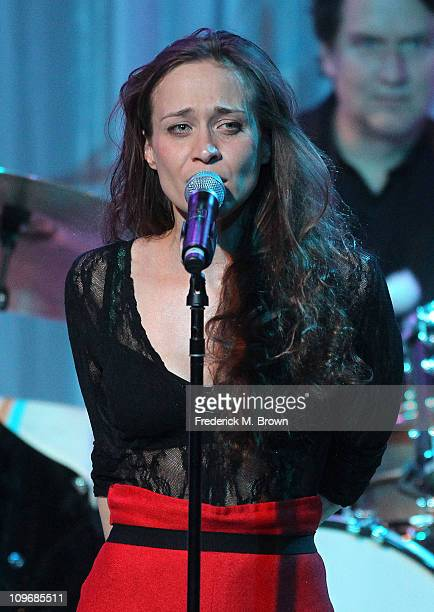 Recording artist Fiona Apple performs during the Venice Family Clinic Silver Circle 2011 Gala at the Beverly Wilshire Hotel on February 28 2011 in...