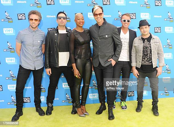 Recording artist Fitz and The Tantrums arrives at the DoSomethingorg and VH1's 2013 Do Something Awards at Avalon on July 31 2013 in Hollywood...