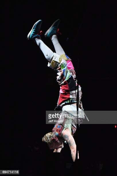 Recording artist Flea of Red Hot Chili Peppers performs onstage at What Stage during Day 3 of the 2017 Bonnaroo Arts And Music Festival on June 10...