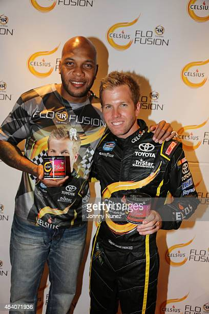 Recording artist Flo Rida and NASCAR driver Blake Koch host the Flo Fusion Gifting Suite at a private location on August 23 in Los Angeles California