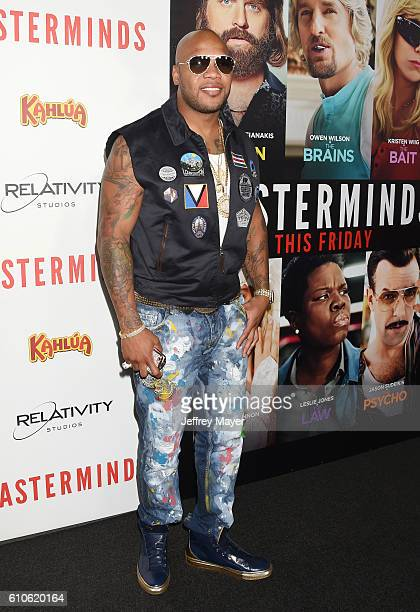 Recording artist Flo Rida attends the premiere of Relativity Media's 'Masterminds' held at TCL Chinese Theatre on September 26 2016 in Hollywood...