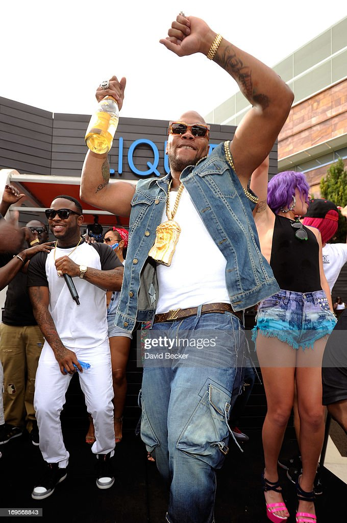Recording artist Flo Rida performs at the Liquid Pool Lounge at the Aria Resort & Casino at CityCenter on May 27, 2013 in Las Vegas, Nevada.