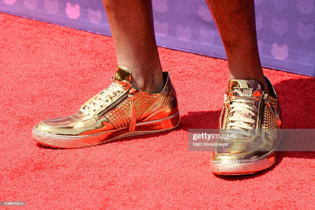 Recording artist Flo Rida, shoe detail, attends the 2016 Radio Disney Music Awards at Microsoft Theater on April 30, 2016 in Los Angeles, California.