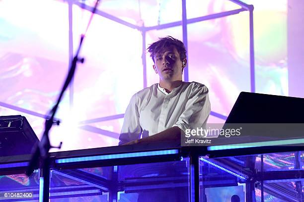 Recording artist Flume performs onstage during day 3 of the 2016 Life Is Beautiful festival on September 25 2016 in Las Vegas Nevada