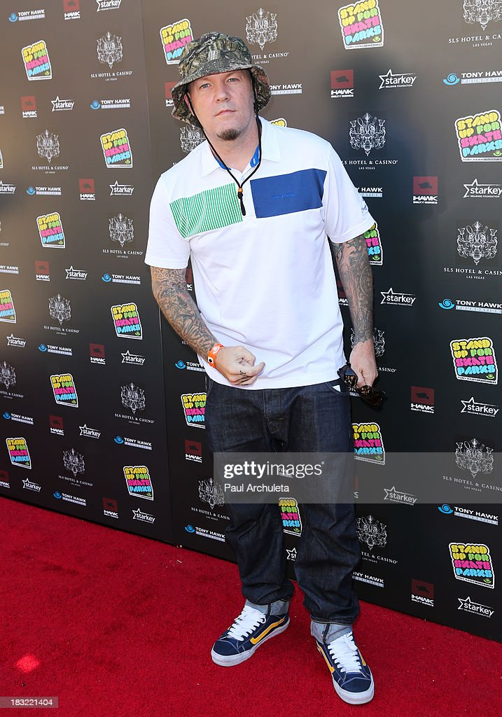 Recording Artist <a gi-track='captionPersonalityLinkClicked' href=/galleries/search?phrase=Fred+Durst&family=editorial&specificpeople=213065 ng-click='$event.stopPropagation()'>Fred Durst</a> attends the 10th Annual Stand Up For Skateparks benefiting the Tony Hawk Foundation on October 5, 2013 in Beverly Hills, California.