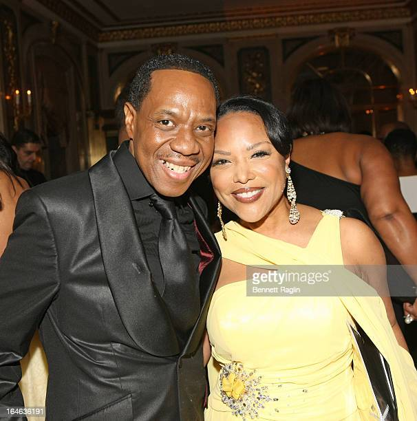 Recording artist Freddie Jackson and actress Lynn Whitfield attend the Evidence A Dance Company 9th annual Torch Ball at The Plaza Hotel on March 25...