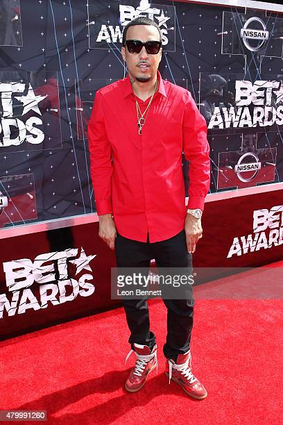 Recording artist French Montana arrived at the BET Make A Wish Foundation Recipients BET Experience At LA Live Red Carpet arrivals Weekend Events on...