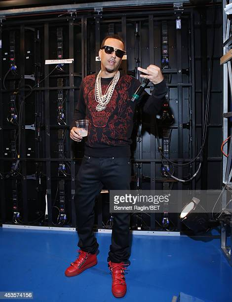 Recording artist French Montana visits 106 Park at BET studio on August 13 2014 in New York City