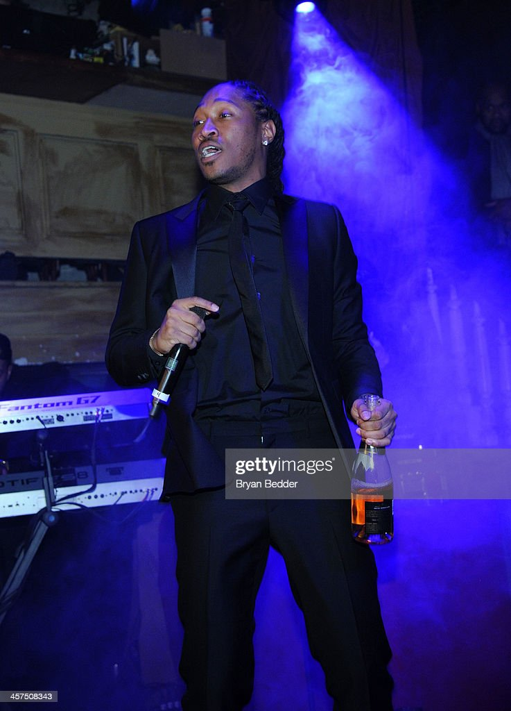 Recording artist Future performs onstage at the Moet Rose Lounge at The Box on December 17, 2013 in New York City.